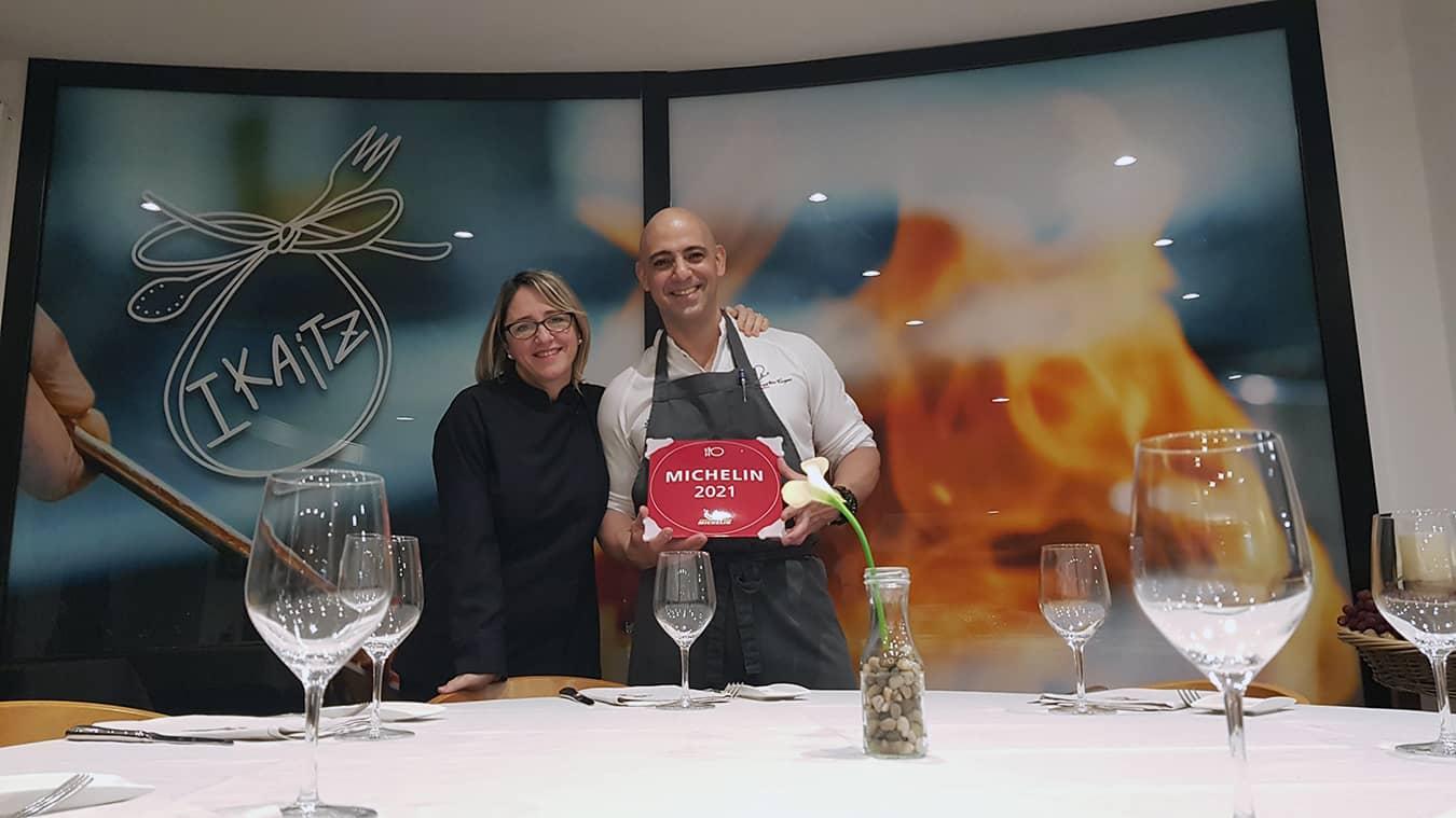 Entrega del reconocimiento Michelin 2021 a Restaurante Ikaitz en San Sebastian
