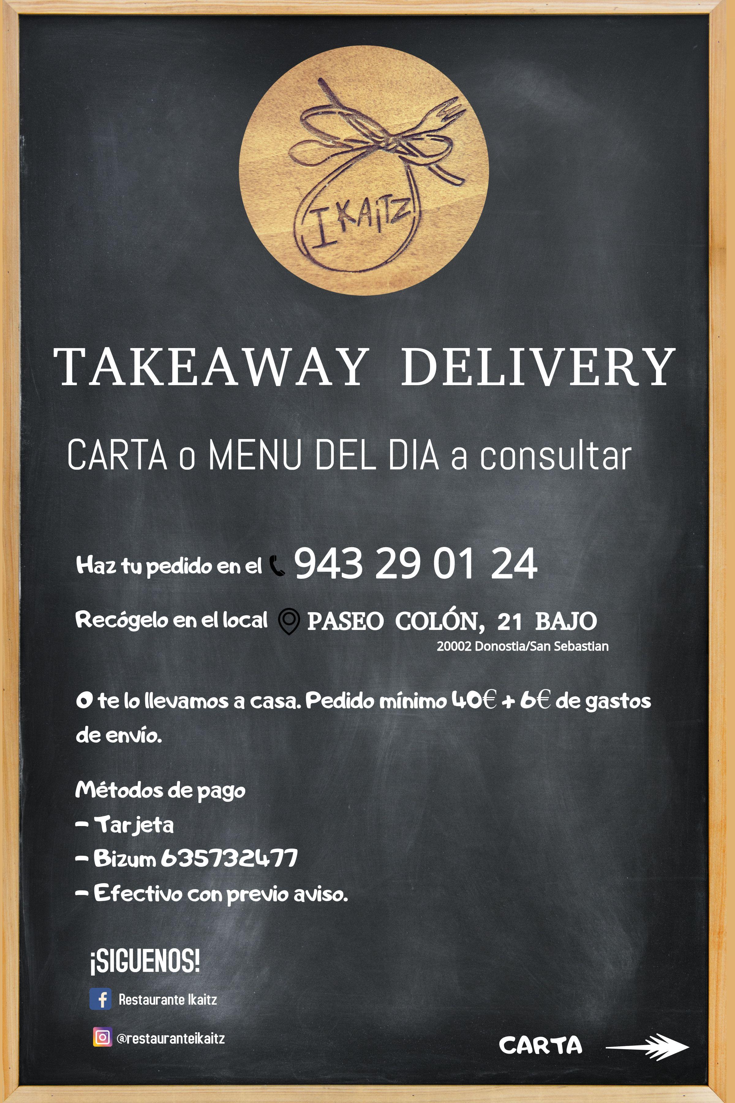 Presentacion Take Away - Restaurante Ikaitz